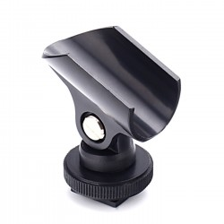 Camera Light Microphone Electric Torch Holder Mic Stand For Hot Shoe